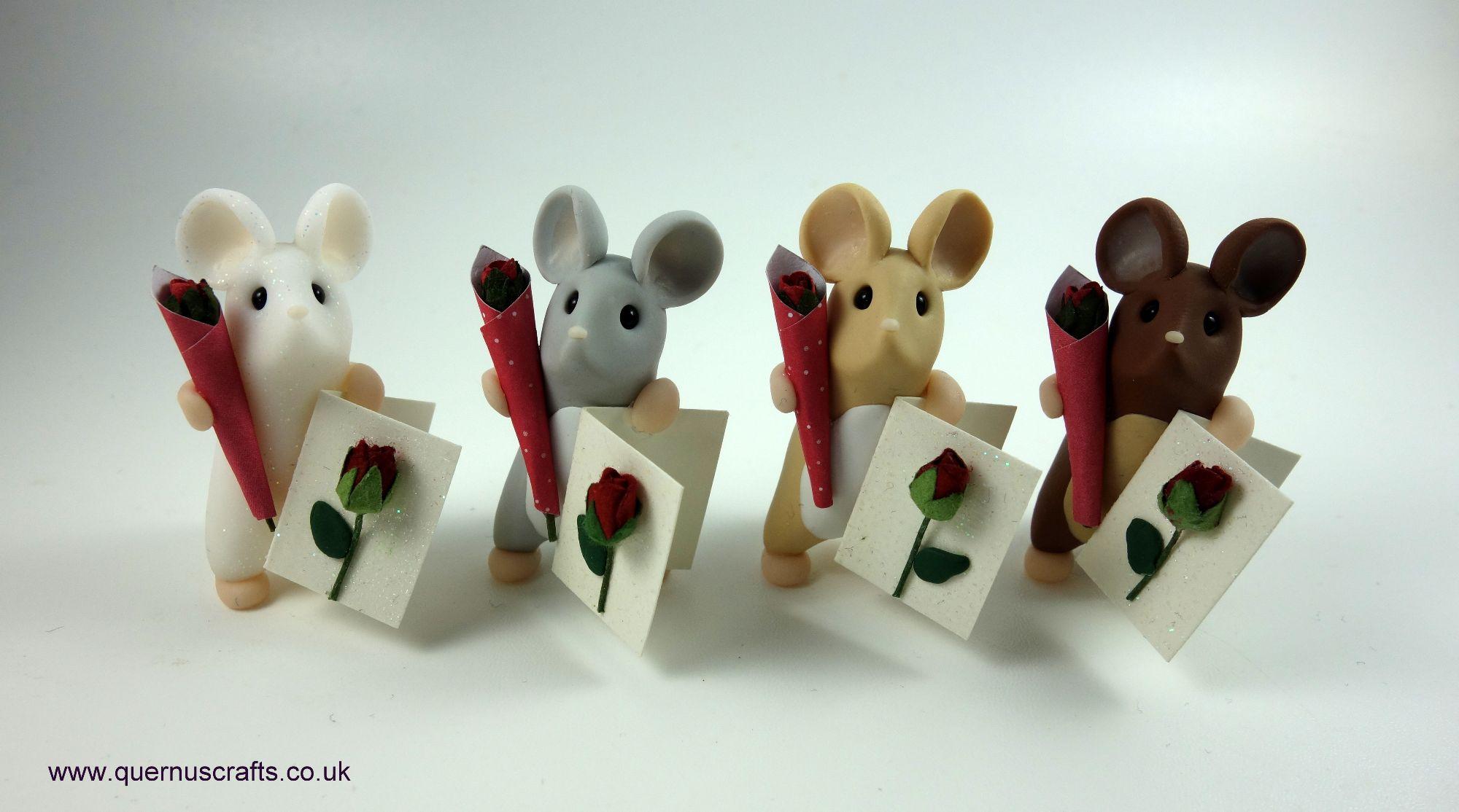 February - Wee Valentine Rose Mice