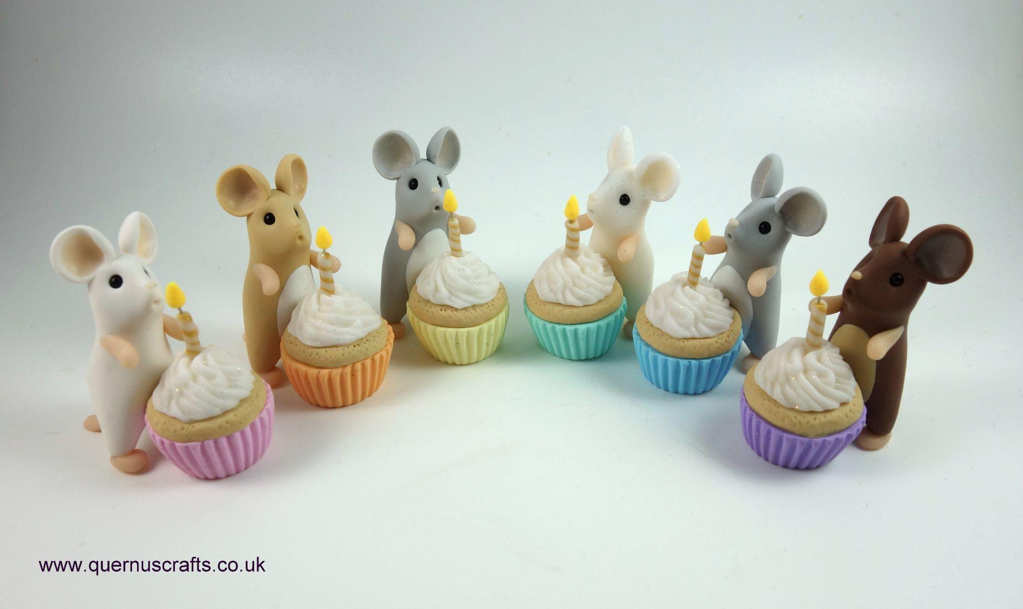 May - Wee Birthday Cupcake Mice