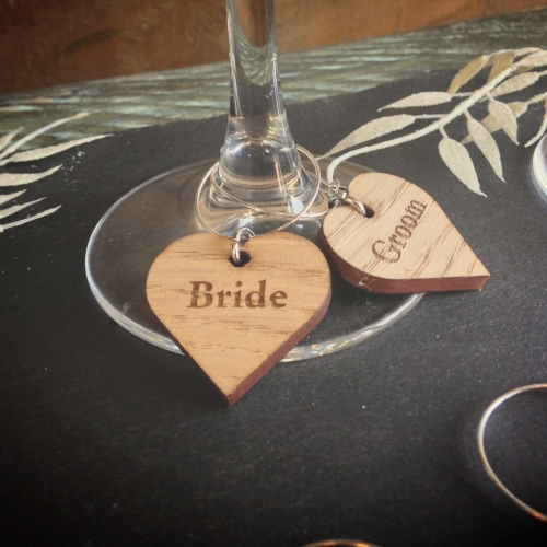 Heart Wine Glass Charms