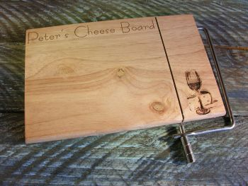 Wire Slicer Cheese Board - Cheese & Wine Design