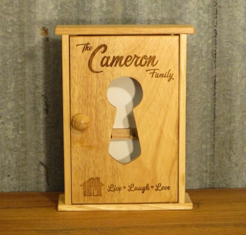 Engraved Wooden Key Cabinet - SD0102