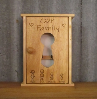 Engraved Wooden Key Cabinet - SD0103