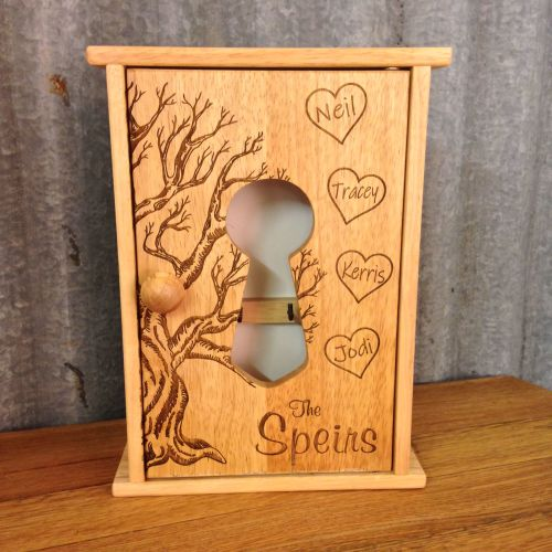Engraved Wooden Key Cabinet - SD0104
