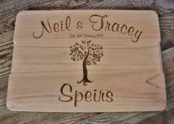 Engraved Wooden Chopping Board - SD0301 - 35 x 24cm