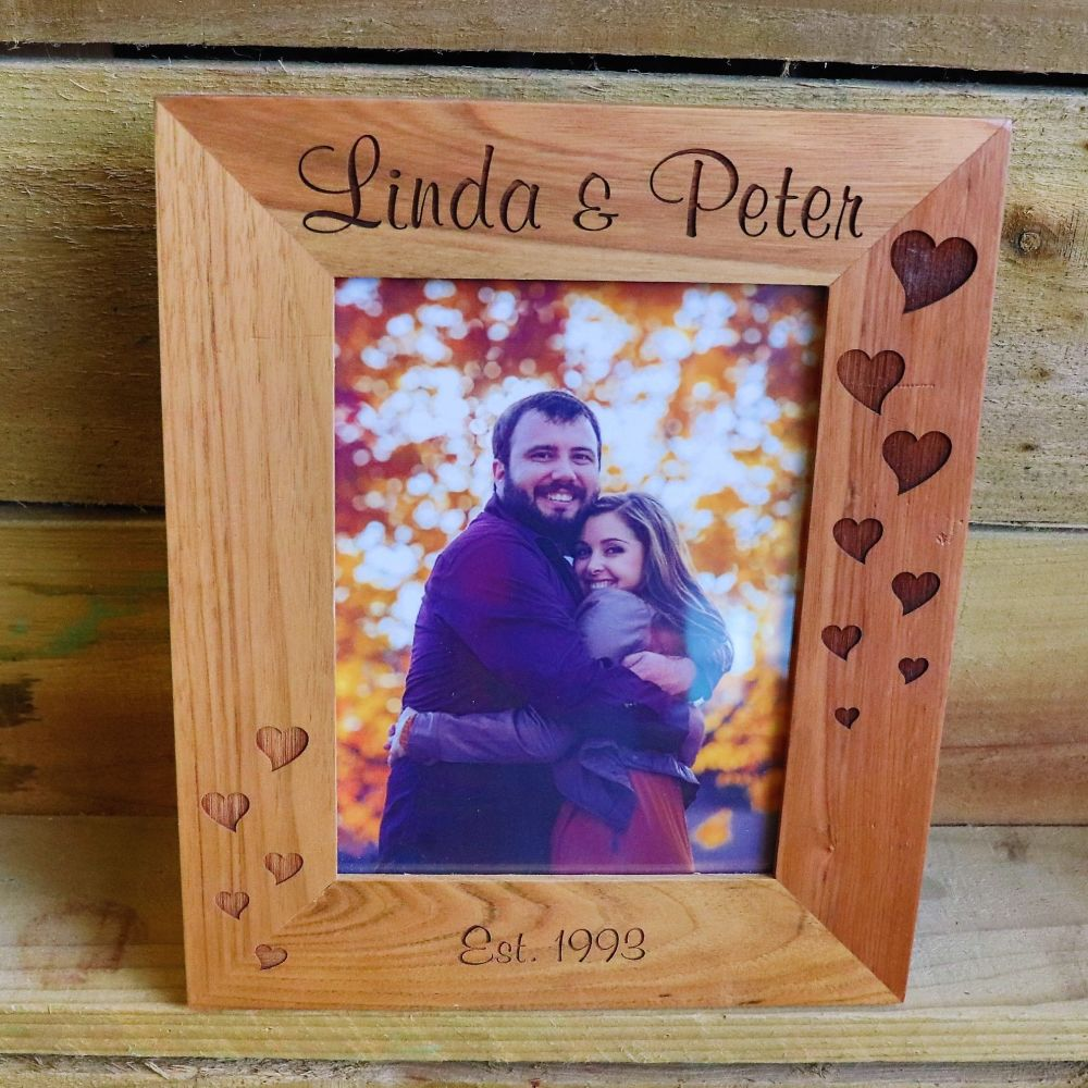 Personalised Oak Photo Frame.