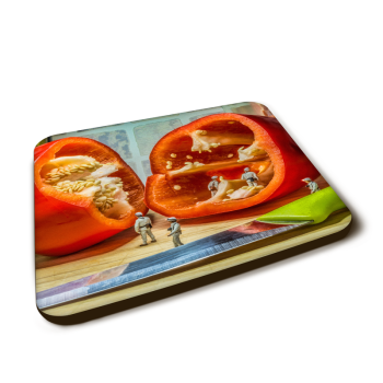 """""""The Pepper Mine"""" Gloss Finished Coaster"""