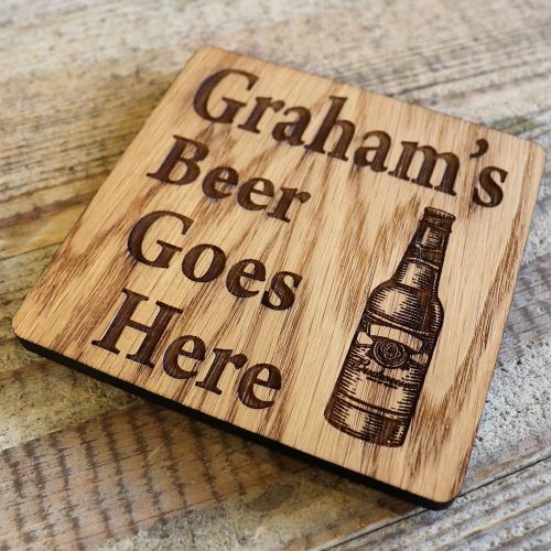 Personalised Beer Bottle Coaster - WBC04