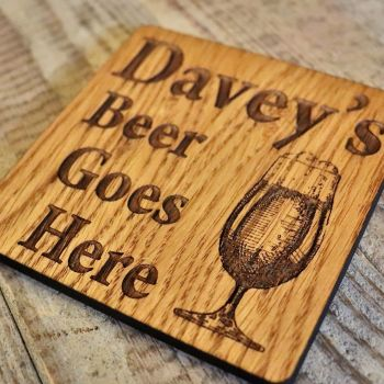Personalised Beer Glass Coaster - WBC03