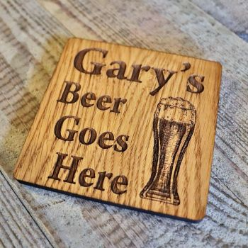 Personalised Pint Glass Coaster - WBC05