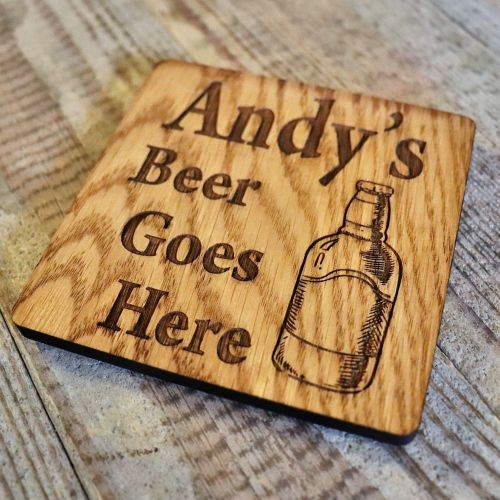 Personalised Pint Glass Coaster - WBC06