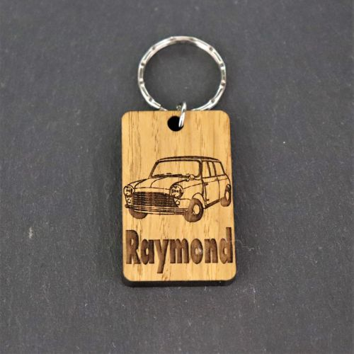Personalised Classic Mini Keyring.