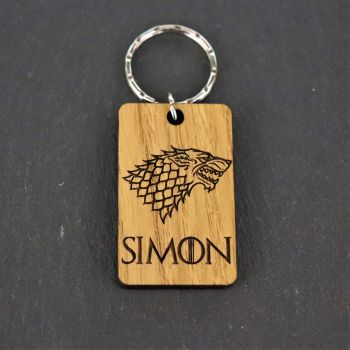 Personalised GOT Stark Keyring. House Name