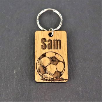 Personalised Football Motif Keyring.