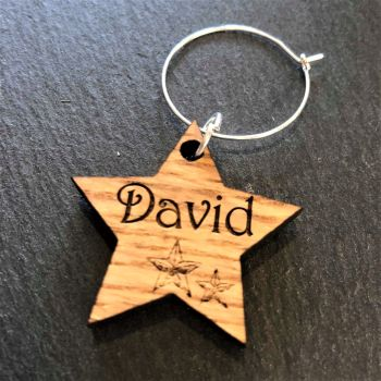 Star Wine Glass Charm