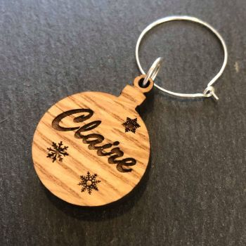 Christmas Bauble Wine Glass Charm