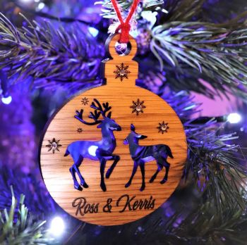 Deluxe Deer Christmas Tree Decoration - DCB13