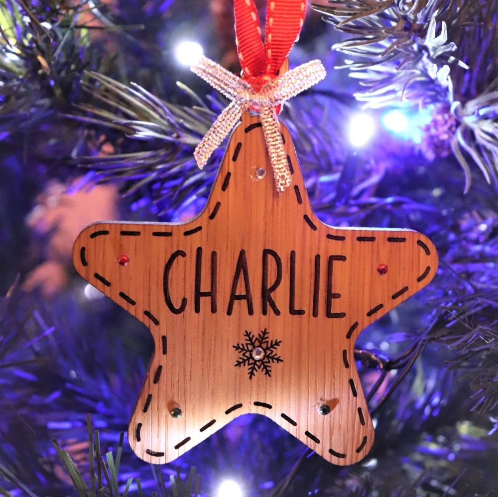 Deluxe Star Christmas Tree Decoration - DCB03
