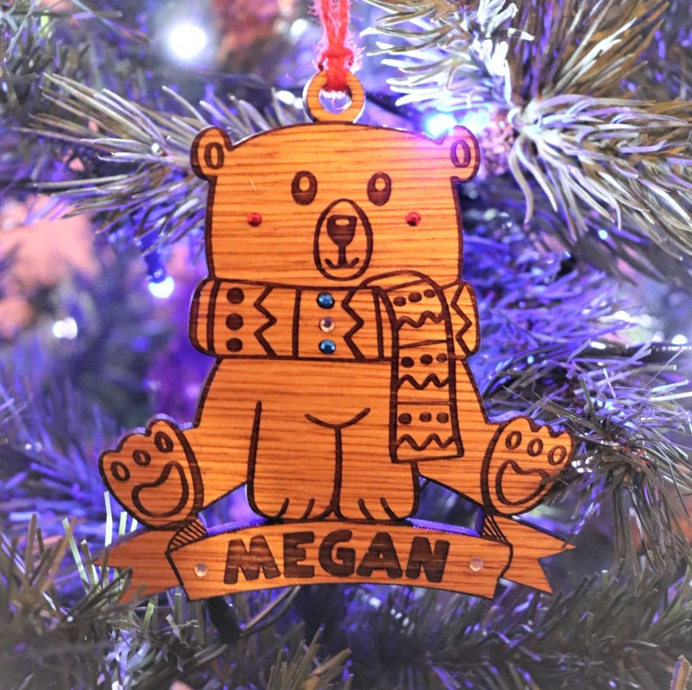 Deluxe Bear Christmas Tree Decoration - DCB08