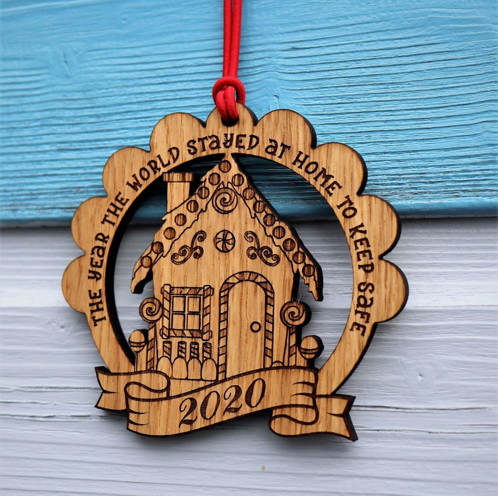 2020 Lockdown Gingerbread House Christmas Decoration