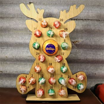 Little Rudolph Advent Calendar - Lindt + Terrys Chocolate Orange Nose - Sorry chocolates not included.