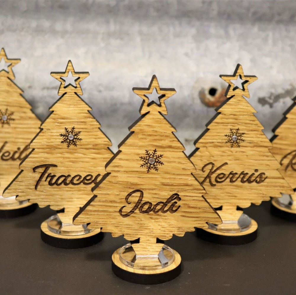 Personalised Christmas Tree Place Setting