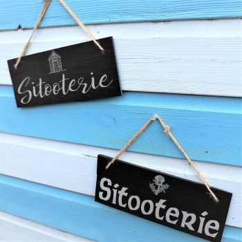 """""""Sitooterie"""" Hanging Slate Panel."""