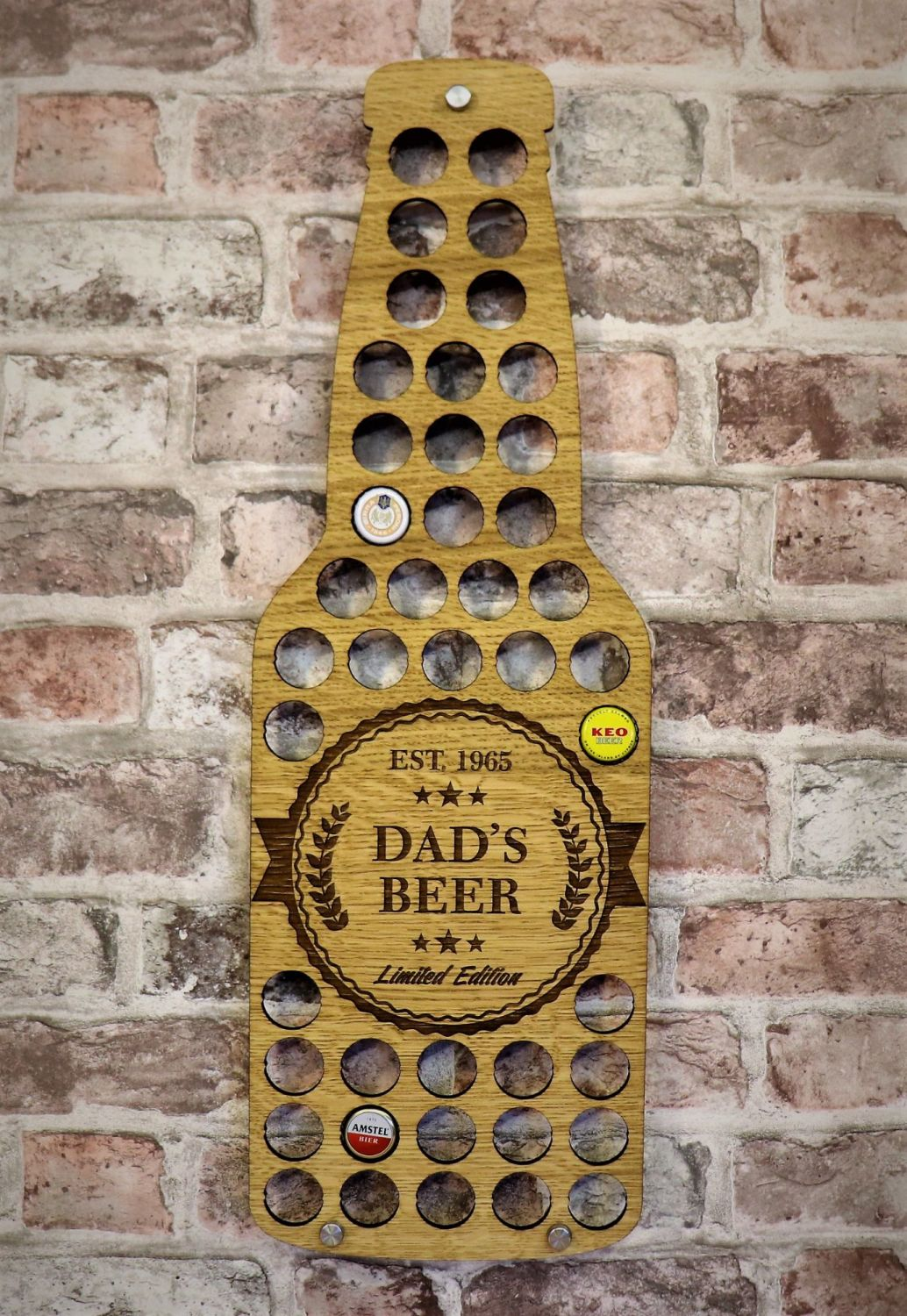 Beer Bottle Wall Art - Personalised *FREE POSTAGE*