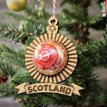 """SCOTLAND"" Teacake Christmas Tree Decoration"