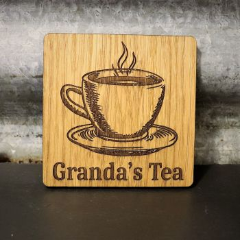 Personalised Tea Cup Coaster ** Free Delivery **
