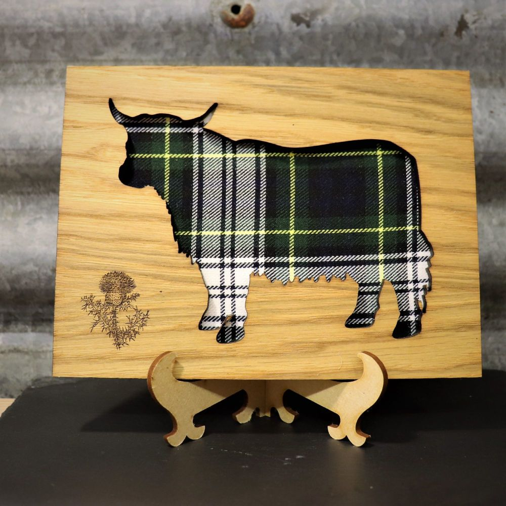 Gordon Green Highland Coo Cut-Out Wall Art with Engraved Thistle Emblem. 20