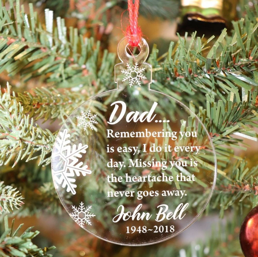 Thinking of You Dad - Christmas, Christmas Tree, Bauble