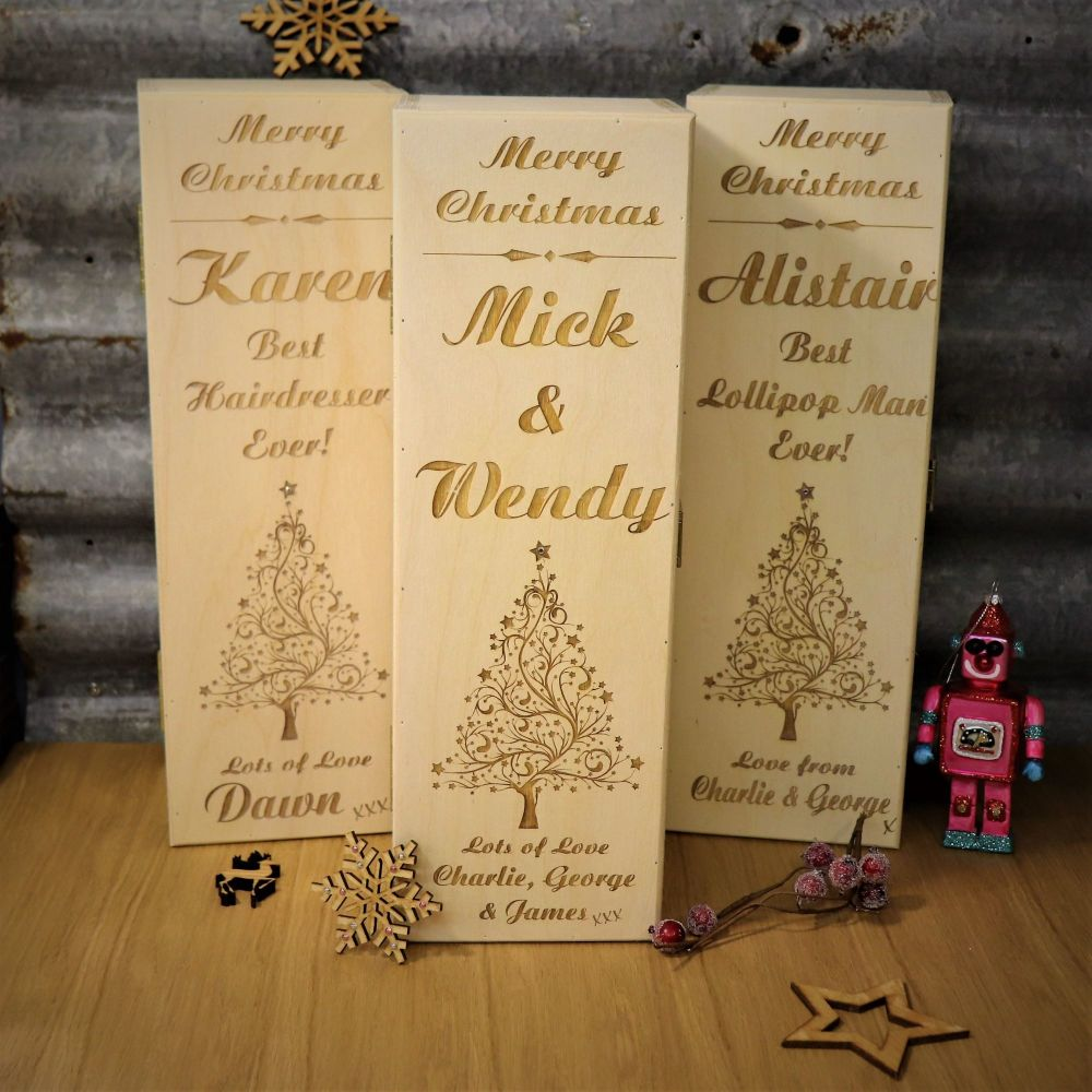 Christmas Tree Bottle Box. Best Quality Box Available!  *Was £24.99