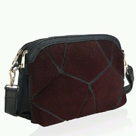 Burgundy Faux Pony Designer Style Women Shoulder Bag Cross Body