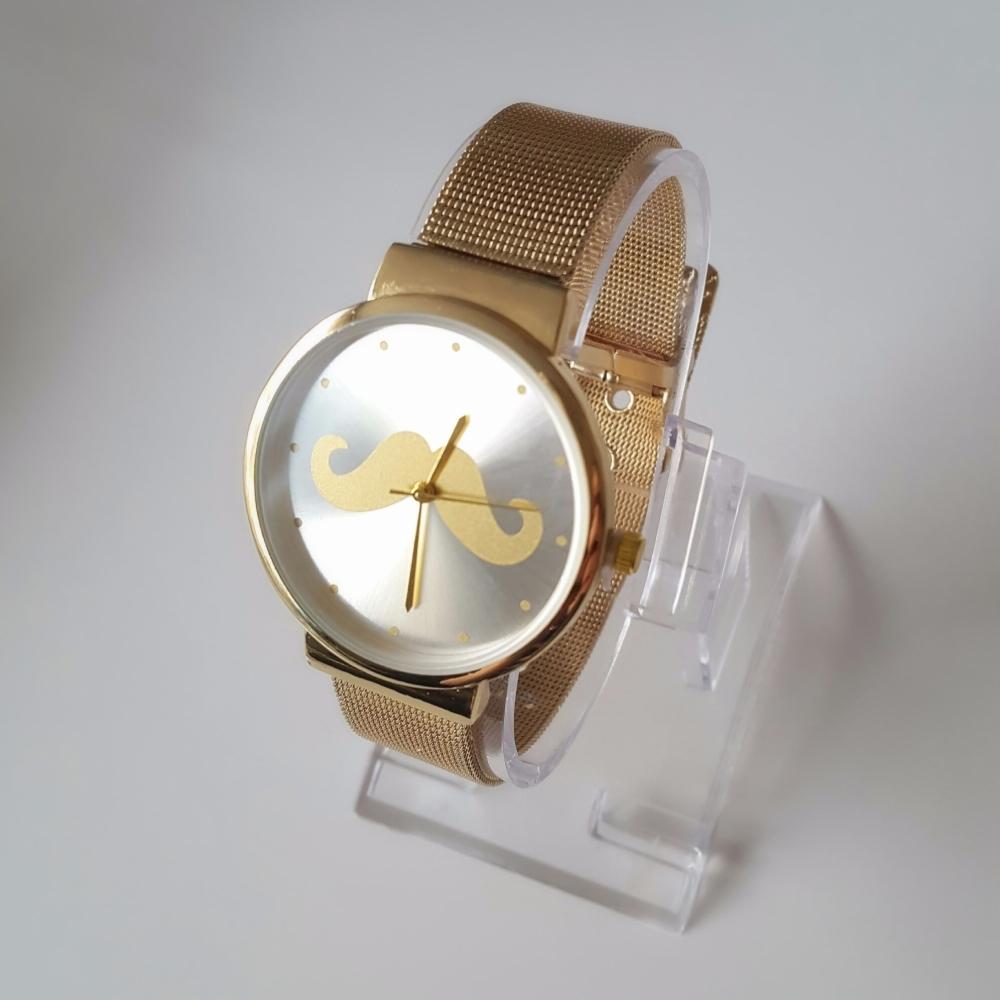 Gold Style Fashion Women Watch Mesh Bracelet
