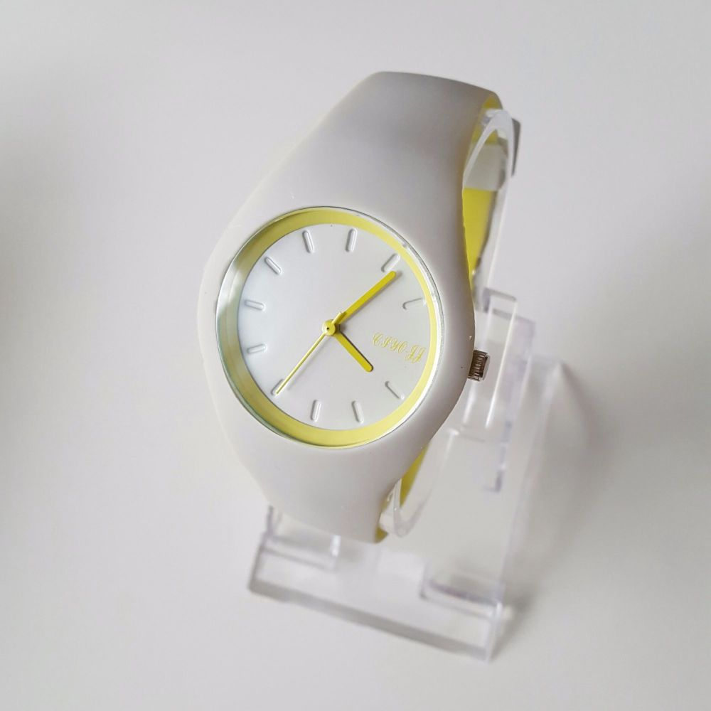Grey Lime Gel Strap Sport Style Watch