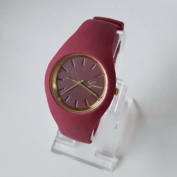 Gel Strap Burgundy Women Watch Sport Style