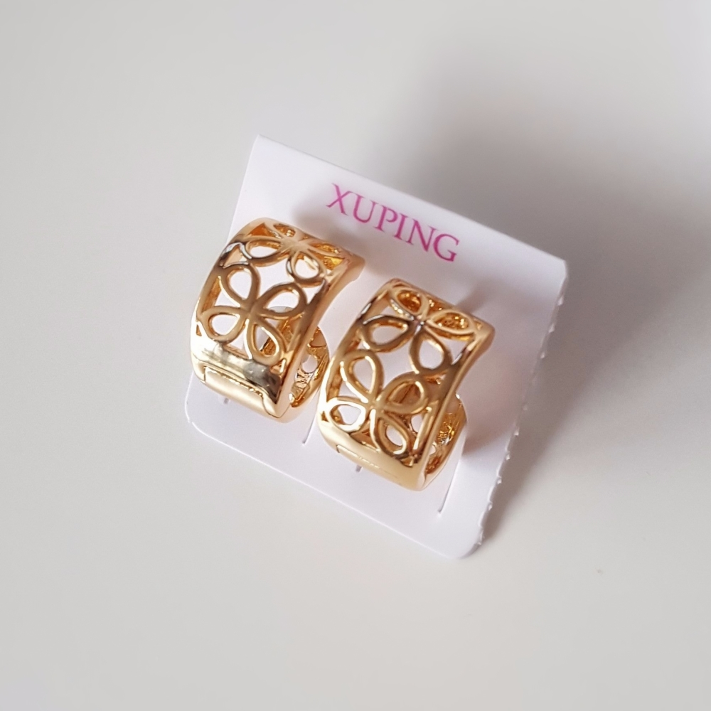 Real Gold Plated Women Earrings Flowers