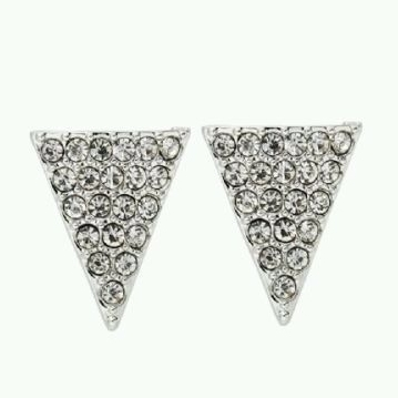 Trendy Diamante Triangular Woman Ladies Earrings