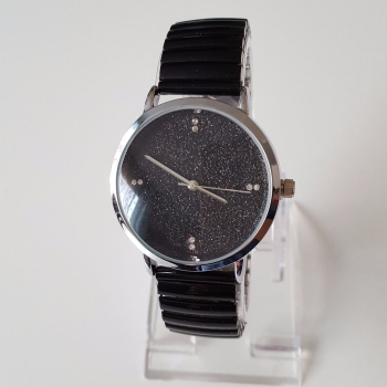 New style women black watch sparkle face