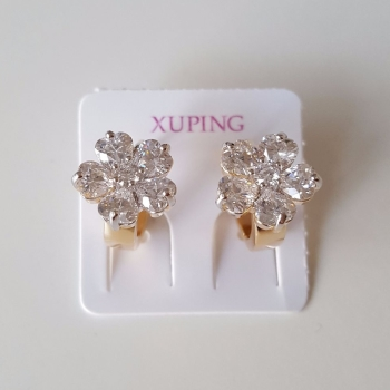 Beauty Real Gold Plated Cubic Zirconia Women Earrings