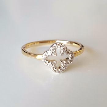 Real Gold Plated New Style Crystal Stone Ring