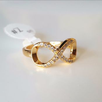 Real Gold Plated Infinity Women Ring