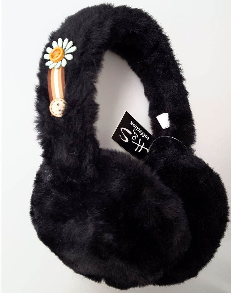 Trendy Women Black Fur Earmuffs