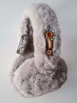 Trendy Women Grey Fur Earmuffs