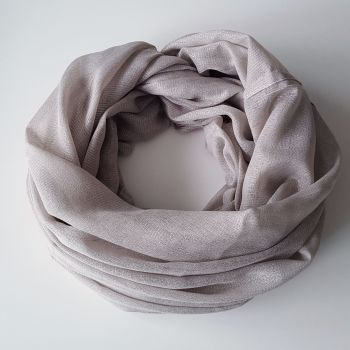 Light Grey Pastel Oversize Women Snood With Sparkle