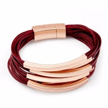 Women Red Wine multi strands bracelet