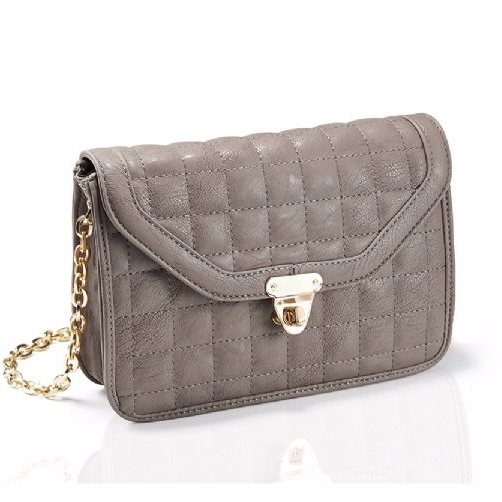 Brown Quilted cross body women bag