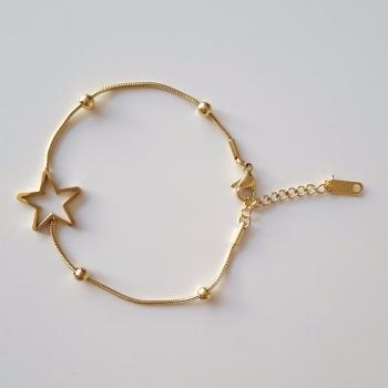 Real Gold Plated Women Bracelet Star