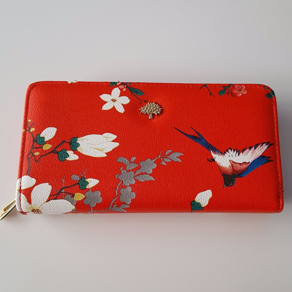 Red Stylish Women Leather Wallet Purse