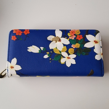 Navy Stylish Women Leather Wallet Purse
